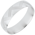 Alliance Japanor - or blanc 18 carats