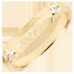 Alliance Jungle Sacrée - Multi diamants 3 mm - or jaune brossé 9 carats