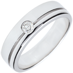 Alliance Olympia Diamant - Grand modèle - or blanc 9 carats