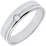 cadeaux femmes Alliance Olympia Diamant - Moyen modèle - or blanc