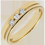 cadeaux femme Alliance Olympia Trilogie - Petit modèle - or jaune 18 carats