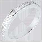 bijoux or Alliance or blanc semi pavée - serti rail - 0.3 carats
