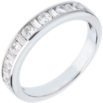 vente en ligne Alliance or blanc semi pavée - serti rail - 0.65 carats - 8 diamants