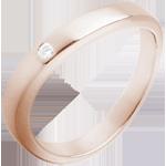 Alliance or rose 18 carats diamant Vague Précieuse