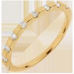 bijou or Alliance Oriane - or jaune 18 carats