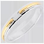 bijou Alliance Promesse - or blanc et jaune - petit modèle