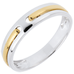 bijou Alliance Promesse - tout or - 2 ors - 18 carats