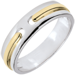 cadeau femme Alliance Promesse - tout or - 2 ors - très grand modèle