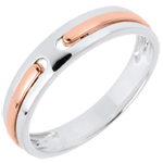 Alliance Promesse - tout or - or blanc et or rose 18 carats