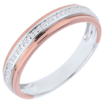 Alliance Romantique - or blanc et or rose 9 carats