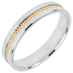Alliance Romeo - or blanc et or jaune 18 carats