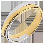 cadeaux Alliance Saturne Duo - tout or - or jaune et or blanc