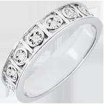 Alliance Secret d'Amour - 9 Diamants - or blanc 18 carats