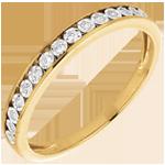 alliance sertis magiques or jaune 18 carats et diamants
