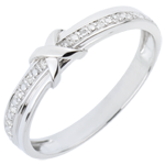bijouteries Alliance Signe D'Amour - or blanc diamant
