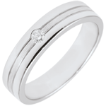 acheter on line Alliance Star Diamant - Petit modèle - Or brossé