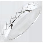 Alliance Tissage or blanc 18 carats