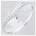 regalo donna Anello Ali preziose - Oro bianco - 9 carati - Diamante