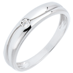 vendite on-line Anello Amore - Oro bianco - 9 carati - Diamante