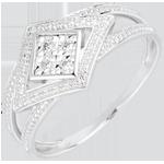vendite on-line Anello Andromaca - Oro bianco - 18 carati - 4 Diamanti