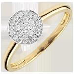 vendite Anello Costellazione Bicolore - Oro giallo e Oro bianco - 18 carati - 25 Diamanti - 0.16 carati