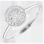 compra Anello Costellazione - Oro Bianco - 9 carati - 25 Diamanti - 0.16 carati