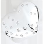 Anello Cuore Stellato - Argento e Diamanti - 0.20 carati