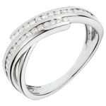 gioiello oro Anello Desiderio prezioso - Oro bianco - 18 carati - 30 Diamanti - 0.21 carati