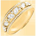 vendite Anello Destino - Bisantino - oro giallo e diamanti - 18 carati