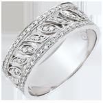 Anello Destino - Théodora - 52 Diamanti - Oro bianco 18 carati