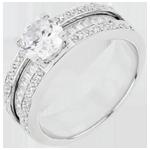 compra on-line Anello di fidanzamento Destino - Costanza - Oro bianco - 18 carati - Diamante - 1 carati