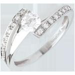 oreficeria Anello di fidanzamento Destino - Eleonora - Oro bianco - 18 carati - Diamante 0.37 carati