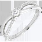 comprare on-line Anello di Fidanzamento Destino - Eternità - Oro bianco - 18 carati - Diamanti - 0.26 carati