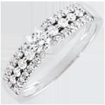 Anello di fidanzamento Destino - Medici - Oro Bianco - 9 carati - Diamanti - 0.36 carati