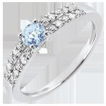 comprare Anello di Fidanzamento Margot - Acquamarina 0.23 carati e Diamanti - Oro bianco 18 carati