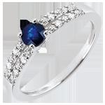 comprare Anello di Fidanzamento Margot - Zaffiro 0.37 carati e Diamanti - Oro bianco 18 carati
