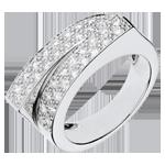 Anello Fantasmagoria - Doppio destino - Oro bianco - 18 carati - Diamanti - 0.68 carati