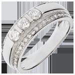 gioielli oro Anello Fantasmagoria - Trilogia semi pavé - Oro bianco - 18 carati - 57 Diamanti - 0.77 carati
