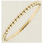 Anello Fior di Sale - Oro giallo - 18 carati