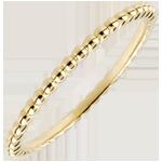 Anello Fior di Sale - Oro giallo - 9 carati