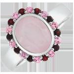 Anello Fiore dell'Eden - Argento e Pietre dure - 2.29 carati
