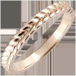 Anello Giardino Incantato - Treccia - Oro rosa - 9 carati