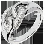 Anello Legame Infinito - Oro bianco - 18 carati - 48 Diamanti - 0.31 carati
