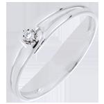 Anello Modernity Diamond - Oro bianco - 18 carati - Diamante