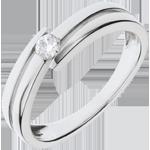 Anello Nido Prezioso - Salomé - Oro bianco - 9 carati - Diamante - 0.11 carati - Diamante