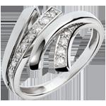 Anello Notte del Deserto - Oro bianco - 18 carati - 12 Diamanti - 0.18 carati