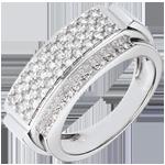 regalo donna Anello Paola - Oro bianco . 18 carati - 48 Diamanti - 0.6 carati