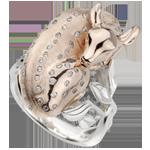 Anello Passeggiata Immaginaria - Cerbiatto sognante - Oro rosa - 18 carati - Diamanti - 0.26 carati