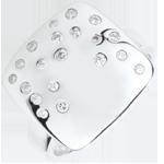 Anello Pavé Stellato - Argento e Diamanti - 0.26 carati