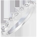 Anello Piccole Nappine - oro bianco 18 carati e diamanti